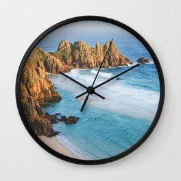 Cornish Coastal Sunset Wall Clock