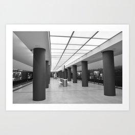 Tube-Station Brandenburg Gate - Berlin Art Print