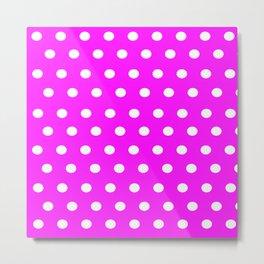 Pink in Dots Metal Print