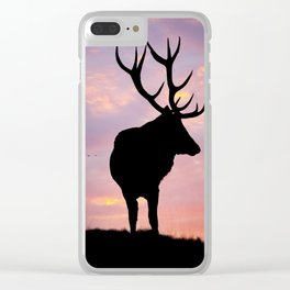 Stag And Sunset Clear iPhone Case