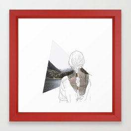 I am a mountain Framed Art Print