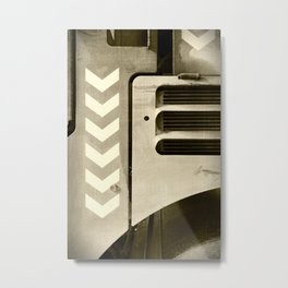 Road Roller Chevron 05 - Industrial Abstract Metal Print