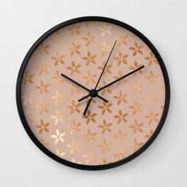 little flowers iv Wall Clock