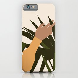 SENUALITÀ MONDIALE - Half of world - Lovely girl hand touching plant iPhone Case