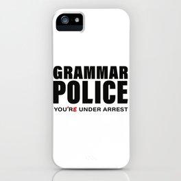 Grammar Police, Comma Unit iPhone Case