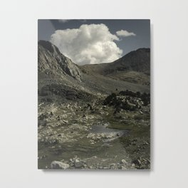 Lake mountains and clouds Metal Print