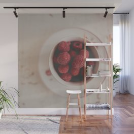 Raspberries Photograph #raspberryprint #foodprint #fooddecor #kitchendecor Wall Mural