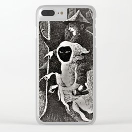 Spook illustration Clear iPhone Case