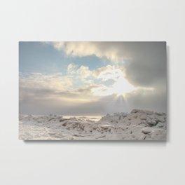 Winter shore of Gulf of Finland. Metal Print