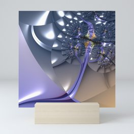 Rooting a Tree in an Abstract Slope Mini Art Print