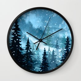 Winter Night Wall Clock