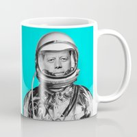 "jfk Mugs featuring JFK ASTRONAUT (or ""All Systems Are JFK"") by Dan Levin's Objects of Curiosity"