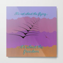 It's Not About the Flying... Metal Print