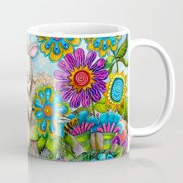 Sheep in the Summer Garden Coffee Mug