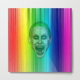 Head Joker Metal Print