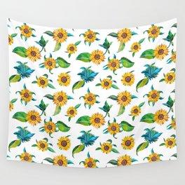 Sunflowers pattern Wall Tapestry