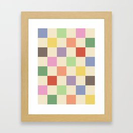 Colorful Checkered Pattern Framed Art Print