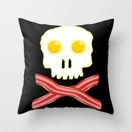 Bacon & Eggs - Vegan Zombie Throw Pillow