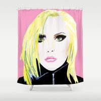 blondie Shower Curtains featuring Debbie Harry  - Blondie - 1980's Punk Band by lindseybaker