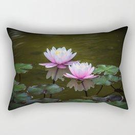 Water Lilies Rectangular Pillow