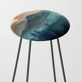 Wilderness Becomes Alive at Night Counter Stool