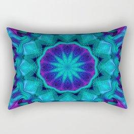 Flower Of Life Mandala (Aurora) Rectangular Pillow