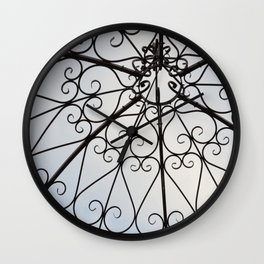 Decorative Garden Railing Wall Clock