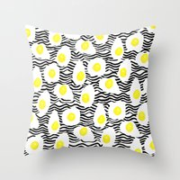 Egg Vibes Only Throw Pillow