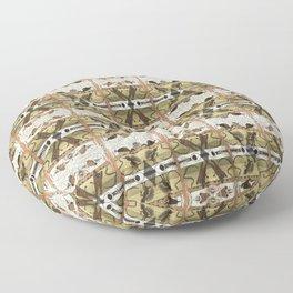 STUCK BETWEEN MONSTERS Floor Pillow