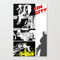 sin city Canvas Prints featuring Sin City by FYeahMelissa