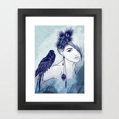 Parrot Girl Framed Art Print