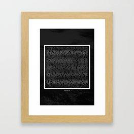 Isaiah 61 Framed Art Print