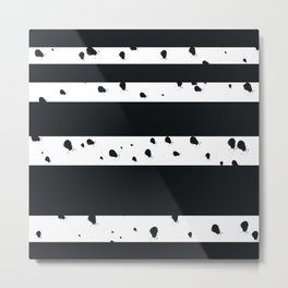 Stripes and Ink Metal Print