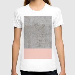 Pale Pink on Concrete T-shirt