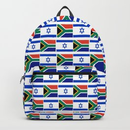 Mix of flag: Israel and south africa Backpack