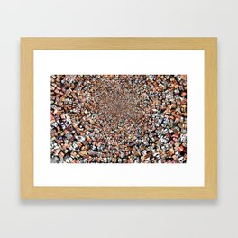 """The Work 3000 Famous and Infamous Faces Collage Framed Art Print"