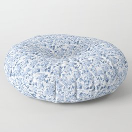 Blue Hydrangea Smaller Pattern Floor Pillow
