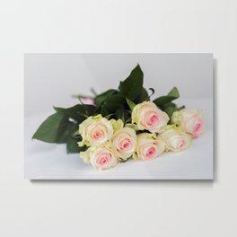 Romantic tender rosesfor beloved only Metal Print