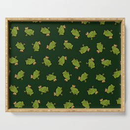 Frog Prince Pattern Serving Tray