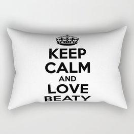Keep calm and love BEATY Rectangular Pillow