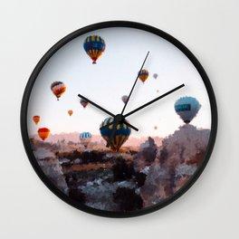 Cappadocia air balloons  Wall Clock