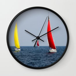 Fun Sail Three Wall Clock