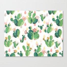 Cactus pattern Leinwanddruck