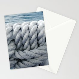 Nautical robe knot Stationery Cards