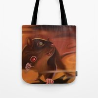 rat Tote Bags featuring Rat by Brandon Heffron