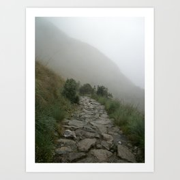 Inca Trail into the mist Art Print