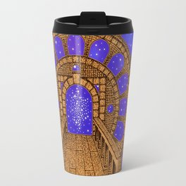 orvio illuminated space mandala Travel Mug