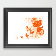 Heart - Orange Framed Art Print