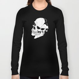 Skull (Fragmented and Conjoined) Long Sleeve T-shirt