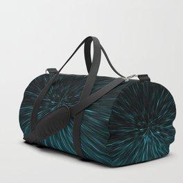 Blue and black Hypergalaxy Duffle Bag